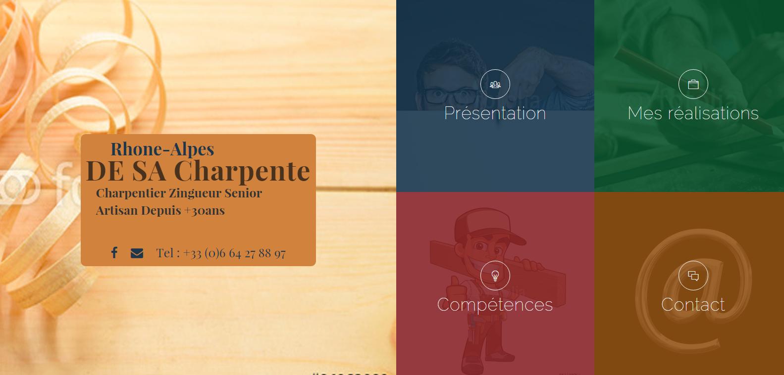Maquette du site DESA Charpente