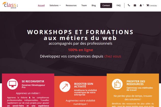 class-active.fr, site réalisé par Bee too Bee
